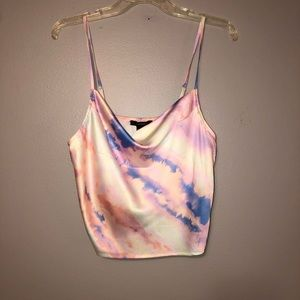 Loose fit colorful tank